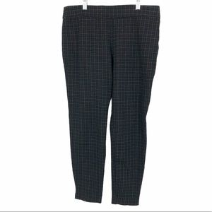 Ellen Tracey houndstooth tapered office pants